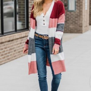 Pink Lily Duster Cardigan